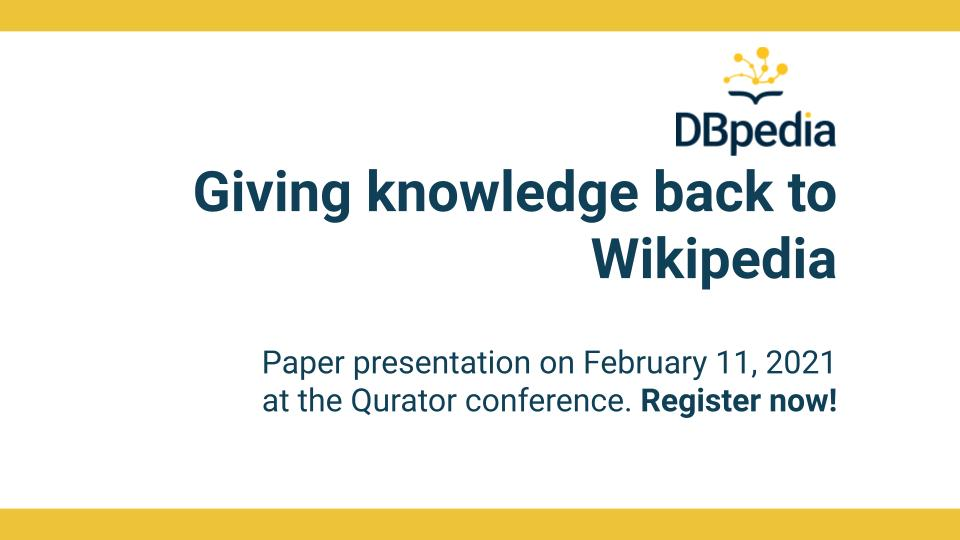 Giving knowledge back to Wikipedia
