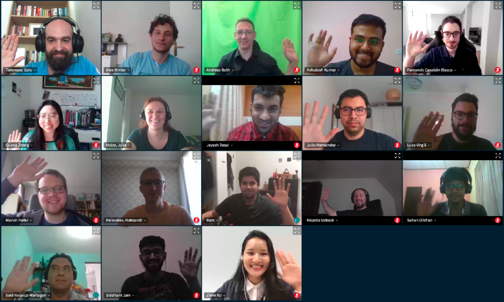 students and mentors during a Google Summer of Code video call